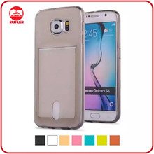 Factory Supply One Body Transparent Ultra Thin TPU Cover Case for Samsung Galaxy J1 With Card Slot