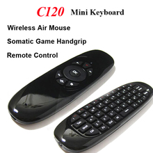C120 2.4G Wireless Mini Air Mouse Keyboard with 3D Somatic Handle and Remote Functio