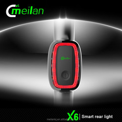 X6 -2 smart rechargeable streamline bicycle rear light