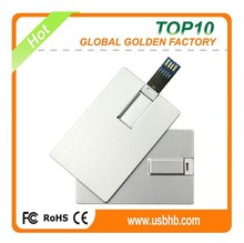 China customized credit card usb pen drive wholesale