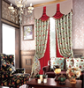 american countryside style jacquard chenille curtain with valance