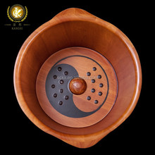 Kangxi's solid wood wash tub made of oak for foot bath, foot soaking to stimulate blood circulation