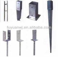 Pvc coated and galvanized stainless steel power round pole anchor