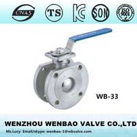 WB-33 Wafer type thin ball valve with locking lever /cf8 valve /ball valve manufacturer italy