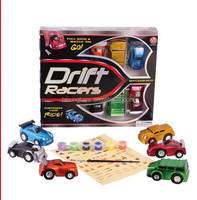 2015 Newest Kids PULL BACK STUNT CAR WITH PAINTING SET(6 MODELS ASST)