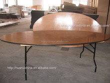 High Quality Hotel Furniture Oval Wood Banquet Table