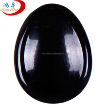 Wholesale Factory Price Black Obsidian Worry Stone Reiki Healing Pocket Massage Stones