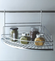 wall mounted metal spice rack