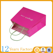 coated printing shopping 3d paper bag design