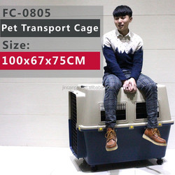 Pet Plastic Kennel Carrier Travel Dog Cat Cage Crate 110 pounds(50kgs)