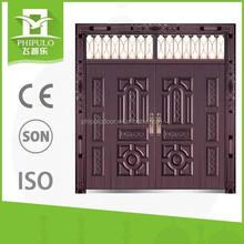 Alibaba exterior villa entrance iron door with glass on hot sale