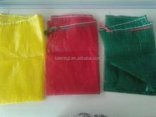 plastic pp mesh drawstring bag