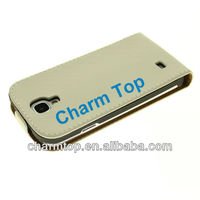 For Samsung Galaxy S4 White Genuine Leather Case