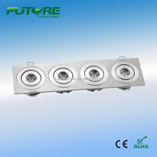 4W 12V dimmable rectangular led recessed downlight