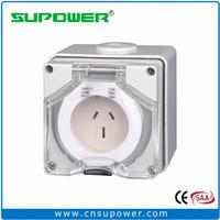 Australian NZ standard 3 flat pin 15A Industrial Surface Socket Outlet
