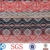 yarn dyed poly cotton woven jacquard fabric