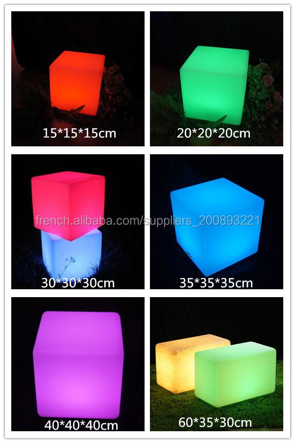 changeant de couleur cube lumineux led chaise de bar pas. Black Bedroom Furniture Sets. Home Design Ideas