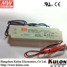 MEANWELL 60W 1750mA Constant Current LED Driver IP67 waterproof CLASS 2 UL/CE Approvals LPC-60-1750