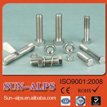 Di alta qualità testa esagonale inox freccia di acciaio e dado m32, bullone di dimensioni standard e un dado m28