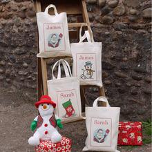 Alibaba China Supplier Wholesale popular designer cotton christmas gift tote bag