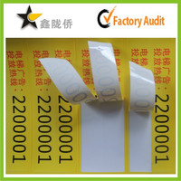 2015 Wholesale printable removable adhesive label for quality control