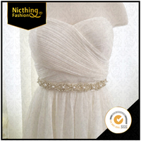Bling bling decorative silver bead crystal pearl and rhinestone trimmings for bridal NRT042