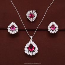 Professional jewelry factory red garnet brilliant cut diamonds wholesale 925 silver diamond ring