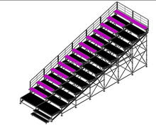 metal bleacher seating stadium with layer truss design