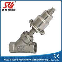 New design stainless steel pneumatic control piston angle seat valves