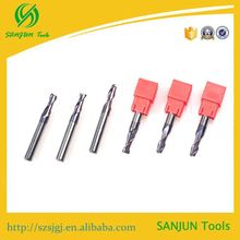 Tungsten carbide cnc end mill 2 flutes Bust choice 2F-5*D5*50L tungsten carbide face cnc solid end mill