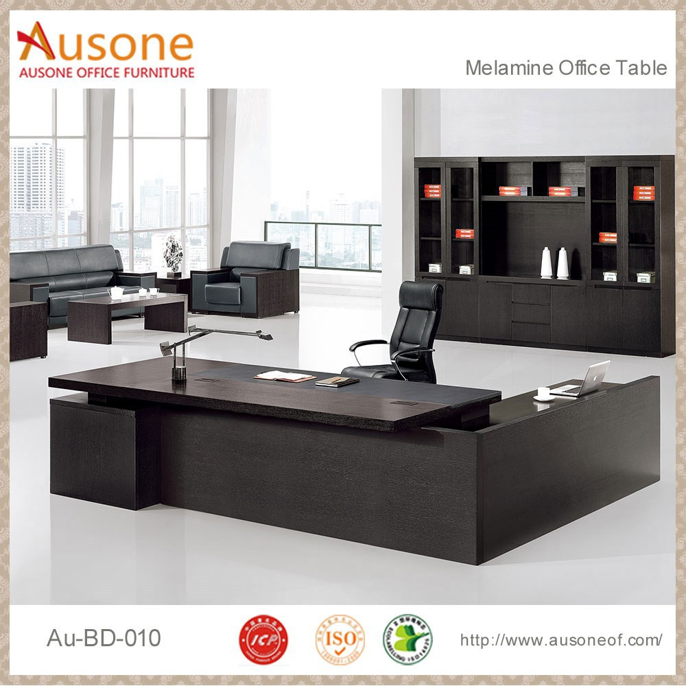 l table black and white office furniture made in china
