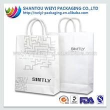 Custom craft paper shopping bag