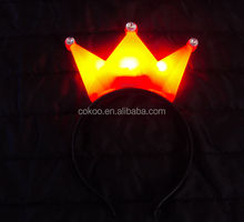 LED light headband new 2014 crown hair band for party decoration for hair,Suitable for adults and children