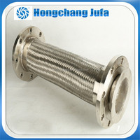 3 inch metal flexible air duct connector 304 316l stainless steel braid hose