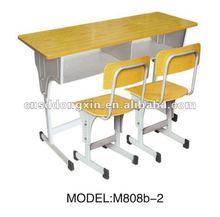 wooden double school desk M808b-2