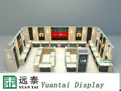 tempered glass fashionable jewelry display acrylic for jewelry store