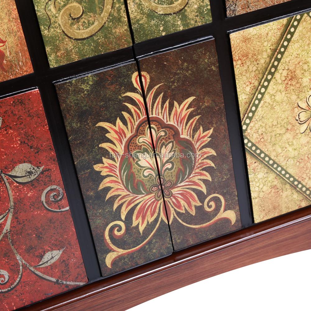 Nieuwe klassieke antieke meubelen vloerverf twee deurs kast cum ...