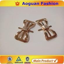 gold bow tie shoe clips hardware metal shoe buckles purse handbag hardware wholesale 14216