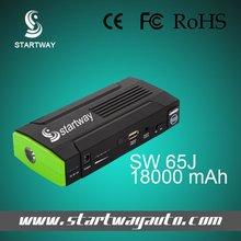 18000ma 12v de salida de la batería del coche cargador/saltar del coche motor de arranque para los coches