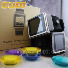 Free shipping 3G android phone smart watch wifi dual core bluetooth card watch mobile phone made in China
