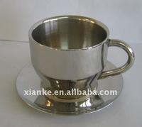 Low price stainless steel tea cup set bar metal coffee mug cup set
