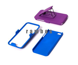 Mobile Accessories Dual Layer Kickstand Holster Cover Phone Case for iPhone 5C