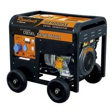 12kVA Diesel generator ,4-wheels,with mental frame,silent machine
