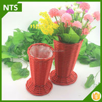 NTS Flower Decoration Small PE Rattan Wedding Basket