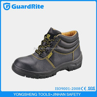 GuardRite high cust leather shoes black,high heel safety shoes