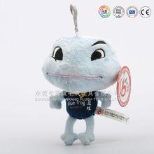 Small keychain stuffed animals & big eye frog key ring