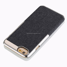 2015 newest Wrap side smartphones fabric pc case for iphone 6 ,non conductive vacuum metallization Tech
