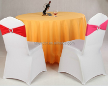 hot sale popular style spandex fashion elastic Lycra chair cover chair sash table cloth for wedding decoration