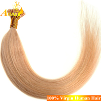 I tip hair extensions wholesale keratin fusion tip 100% remy human hair extension