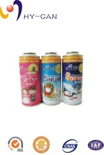 High pressure empty aerosol tinplate can for party spray snow and spray colored ribbon in wholesale price
